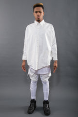 BUTTON UP BATWING RAINWEAR PONCHO, BLEACH M/L - Button Up - STREETWEAR - NYC - MOVES