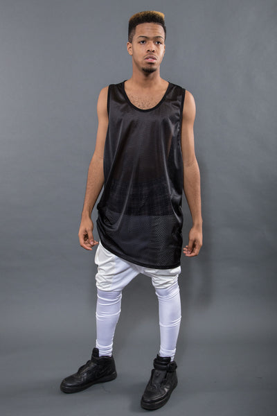 OVERSIZED MESH TANK W/ SIDE TOGGLE SYSTEM, TAR - Tank - STREETWEAR - NYC - MOVES
