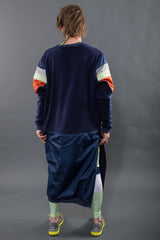 FOUNDATION CREW, NAVY - Sweatshirt - STREETWEAR - NYC - MOVES