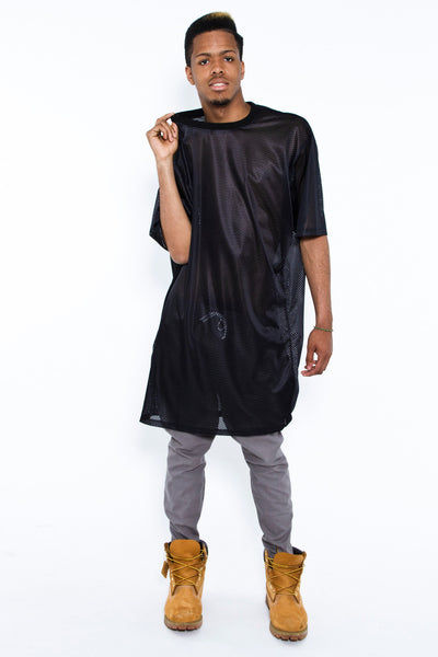 5XL TALLER TEE, TAR MESH - Tall Tee - STREETWEAR - NYC - MOVES