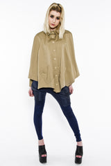 BUTTON UP BATWING PONCHO, DIRT S/M - Button Up - STREETWEAR - NYC - MOVES