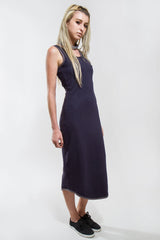 LONG DRESS WITH ASYMMETRICAL ARMS - Dress - STREETWEAR - NYC - MOVES