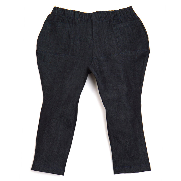 DENIM PANEL PANTS - Pants - STREETWEAR - NYC - MOVES