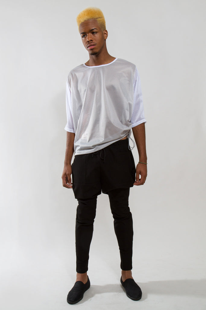 MESH SHIRT W/ SIDE TOGGLES - Mesh Shirt - STREETWEAR - NYC - MOVES