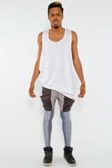 HYBRID RAINPANT LEGGING, TAR - Leggings - STREETWEAR - NYC - MOVES