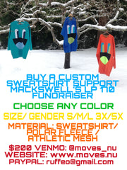 FUNDRAISER RAGER EMPATHETIC EYES CREW - Sweatshirt - STREETWEAR - NYC - MOVES
