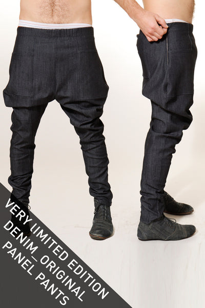 CUSTOM DENIM Panel Pants - Pants - STREETWEAR - NYC - MOVES