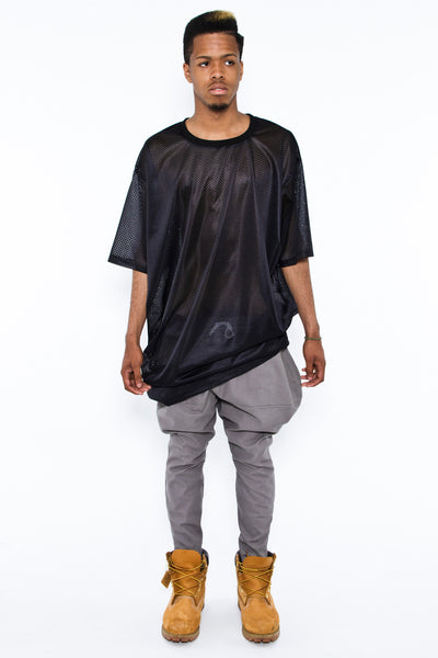 FULL JODHPUR PANTS ALUMINUM - Shorts - STREETWEAR - NYC - MOVES
