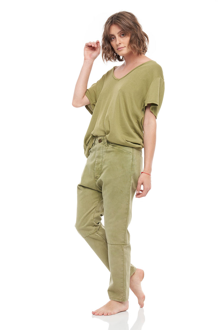 The Colony Denim Pants in Khaki
