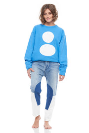 The Two Handred Oversize French Terry Pullover in Blue