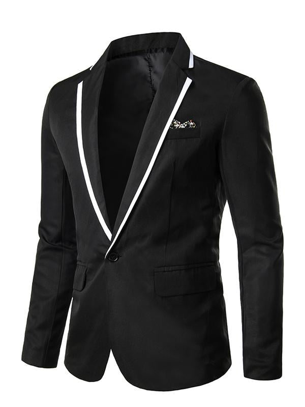 Men's Solid Colored Party/Wedding/Dress Lapel Blazer 50600MX09 - kiyomall