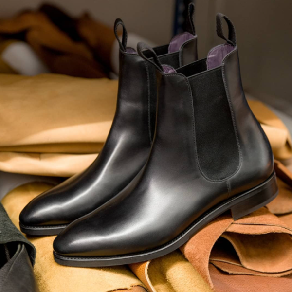 Black Business Office Chelsea Boots