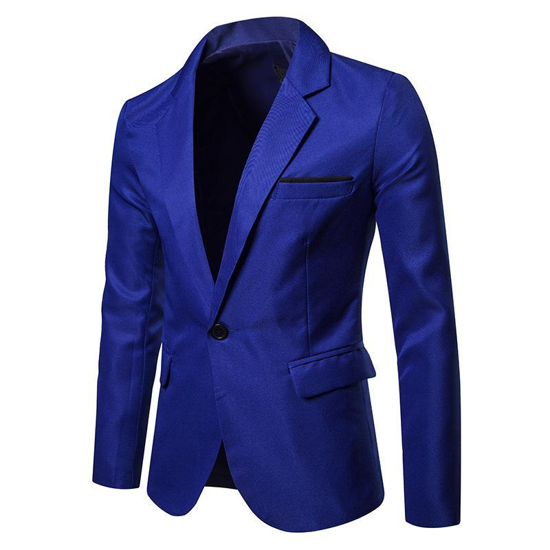 Men's Solid Colored Party/Wedding/Dress Lapel Blazer 130MX09 - kiyomall