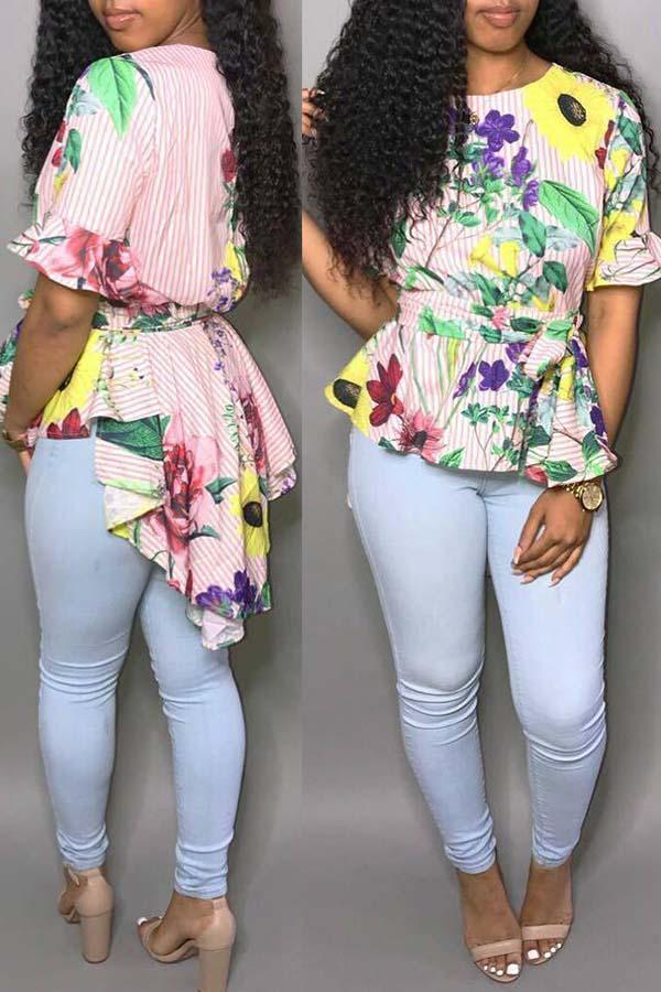 Floral Fishtail Blouse