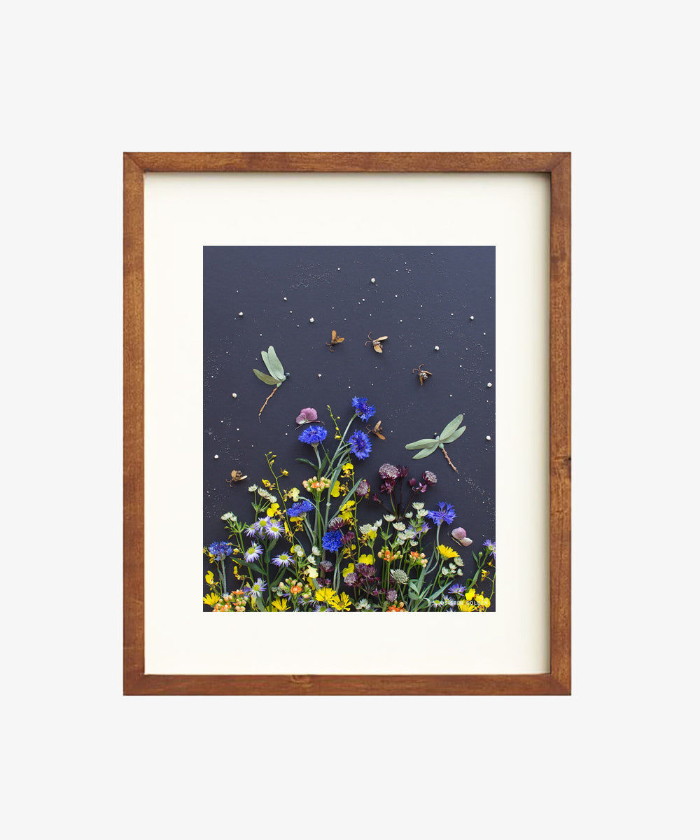 """Among the Flowers"" Flower Print - Sister Golden"