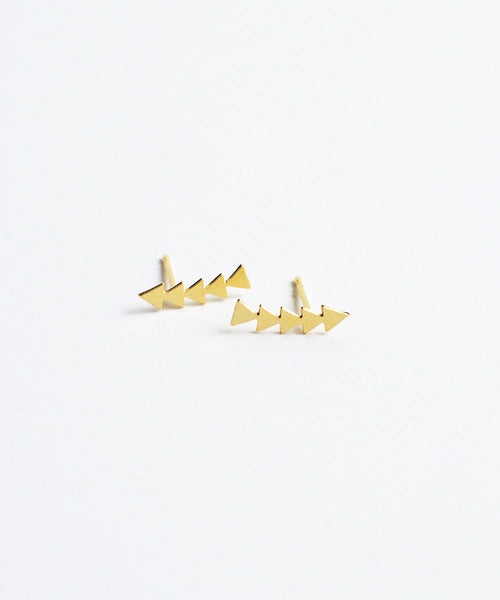 Gold Arrows Studs