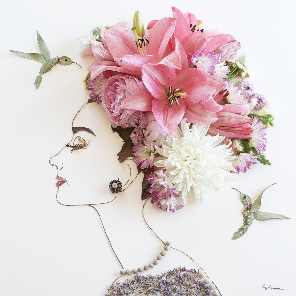 """My Fair Lady"" Flower Face Print"