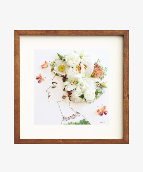"""Breakfast at Tiffany's"" Flower Face Print"
