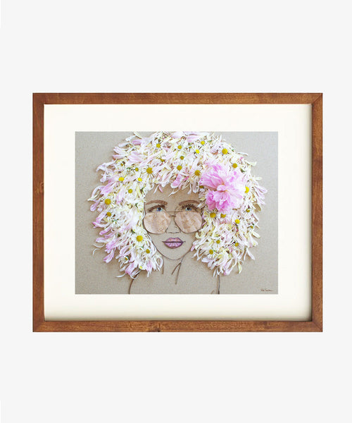 """Beach Babe"" Flower Face Print"