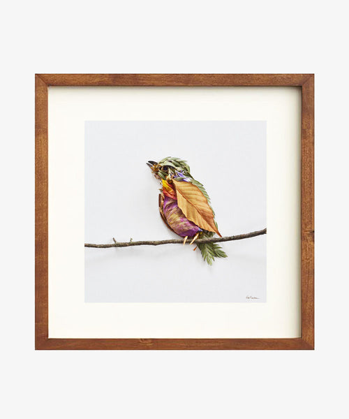 """Perched"" Flower Print"