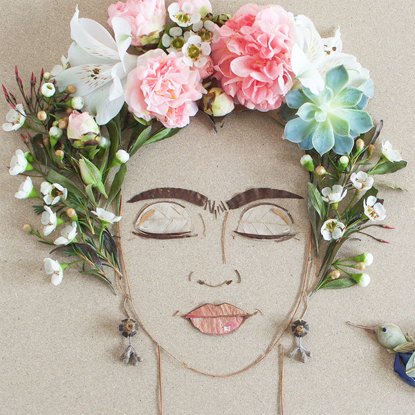"""Blooming Frida"" Flower Face Print"