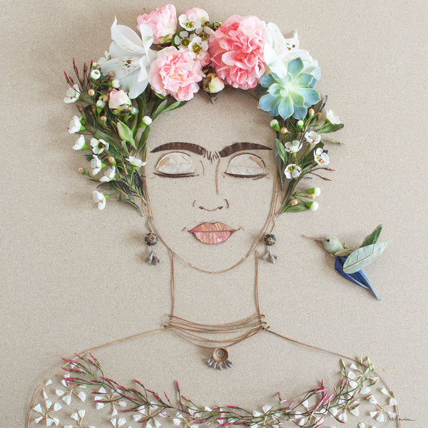 """Blooming Frida"" Flower Print - Sister Golden"