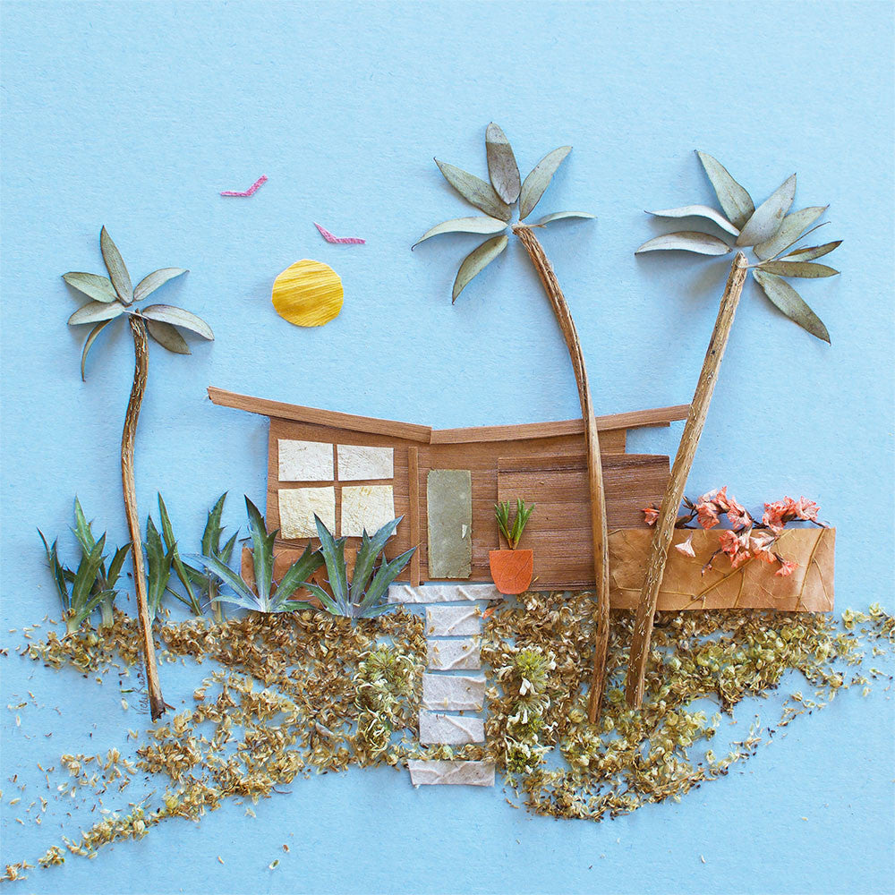 """Mid-Century Beach House"" Flower Print"