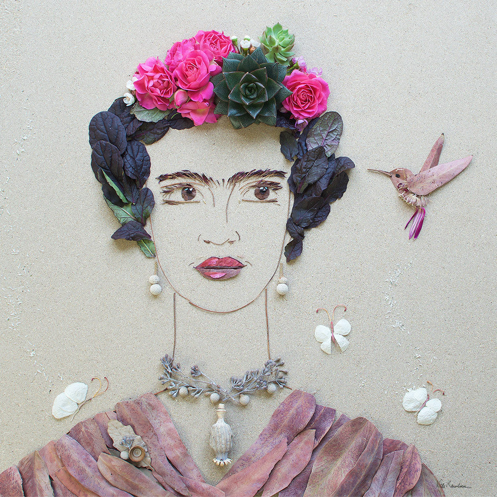 """Fearless Frida"" Flower Face Print"