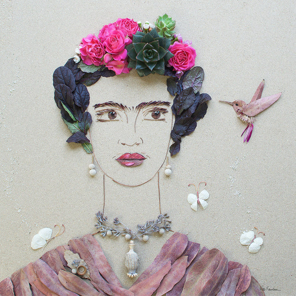 """Fearless Frida"" Flower Print - Sister Golden"