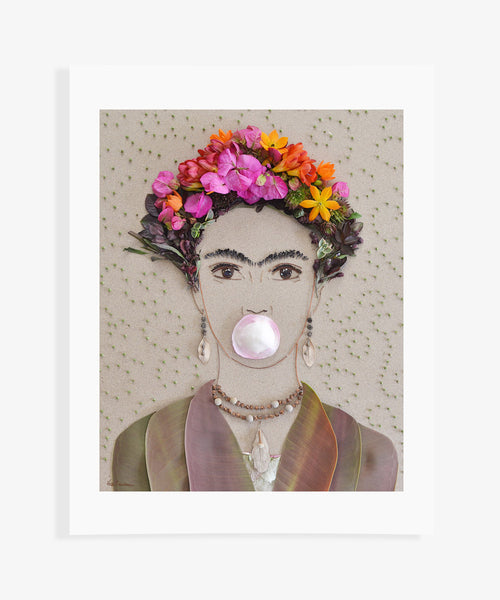 """Bubble Gum Frida"" Flower Print"