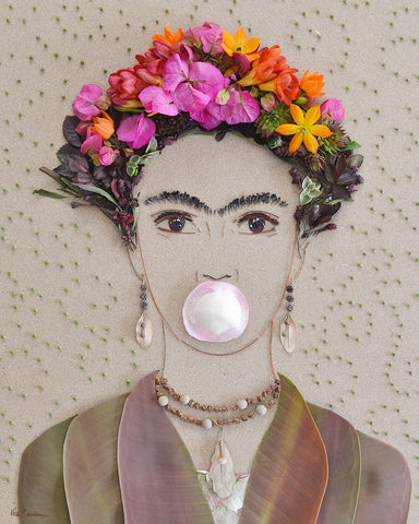"""Bubble Gum Frida"" Flower Print - Sister Golden"