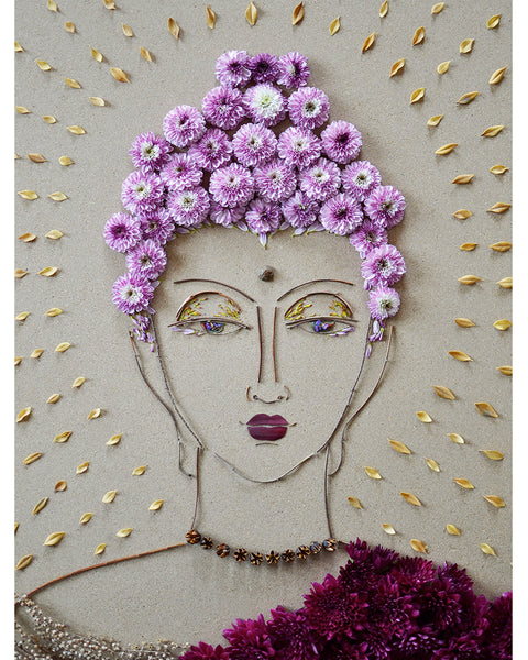"""Buddha"" Flower Print - Sister Golden"