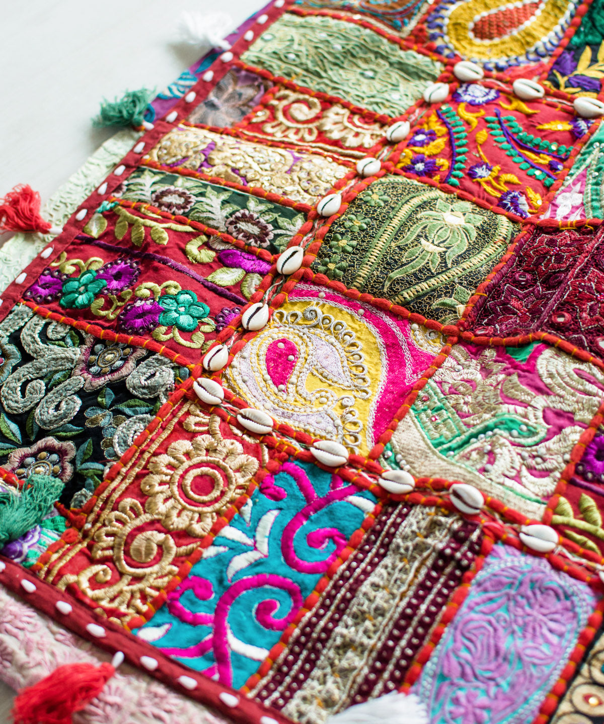 Indian Patchwork Floor Pillow III