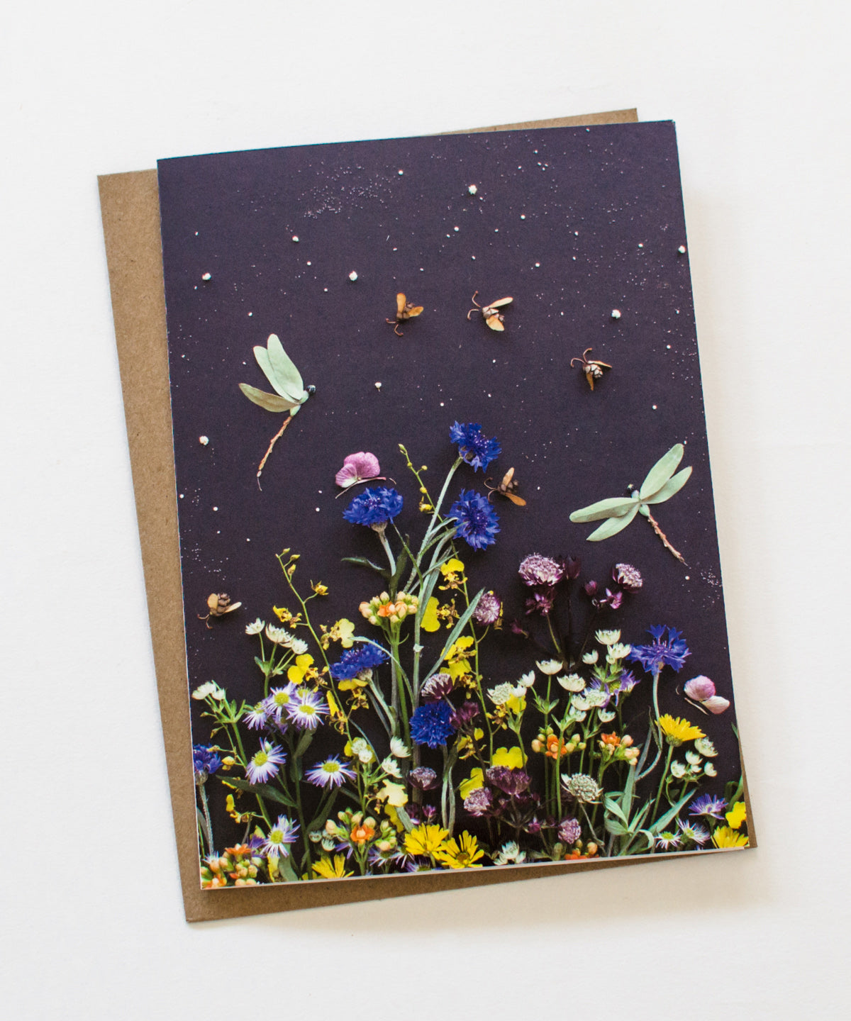 """Among the Flowers"" Greeting Card"