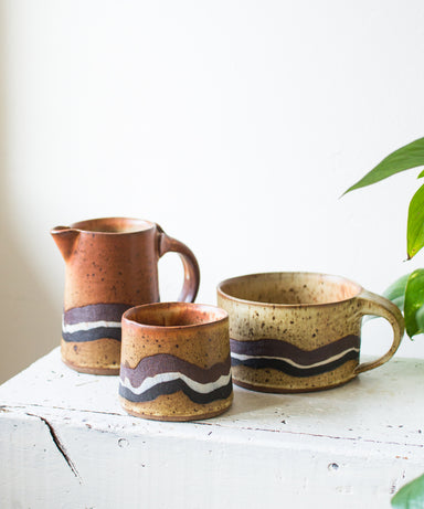 Studio Pottery Set - Sister Golden