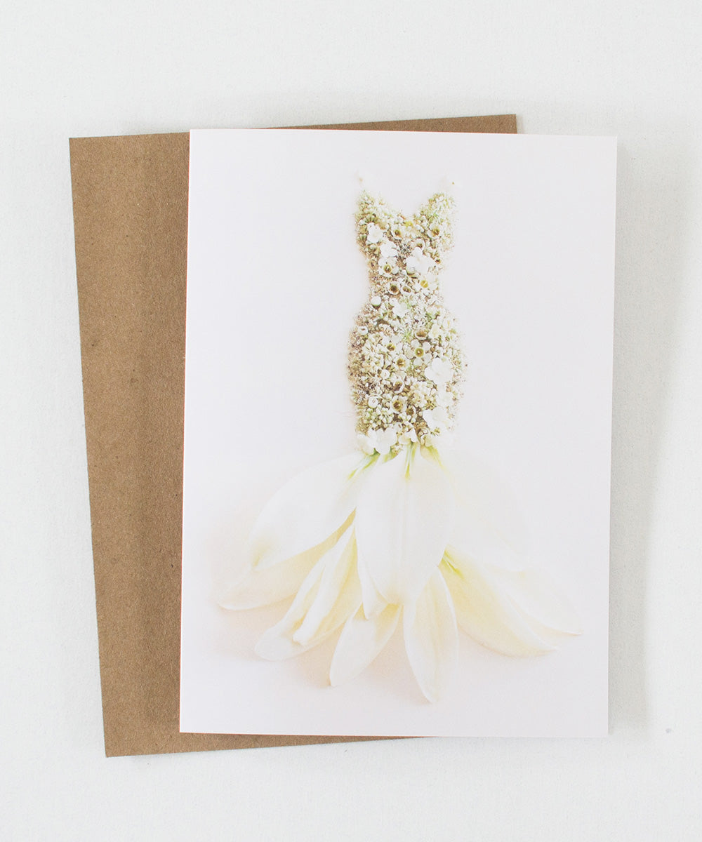"""She Wore White"" Greeting Card"