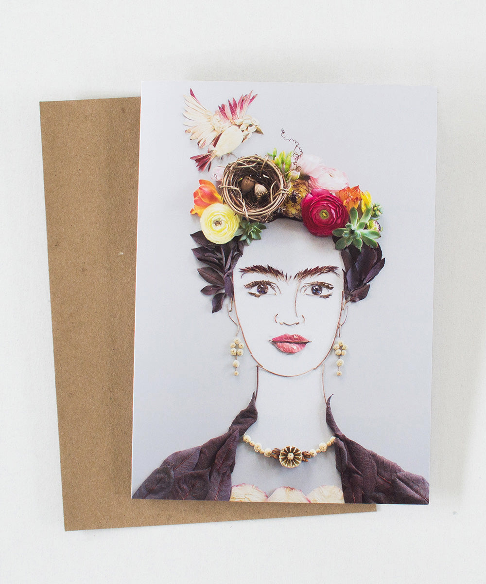"""Nesting Frida"" Greeting Card - Sister Golden"