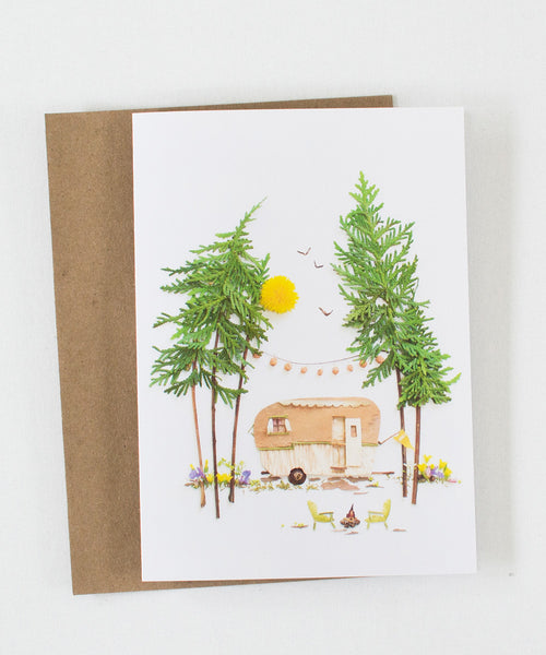 """Happy Camper"" Greeting Card - Sister Golden"