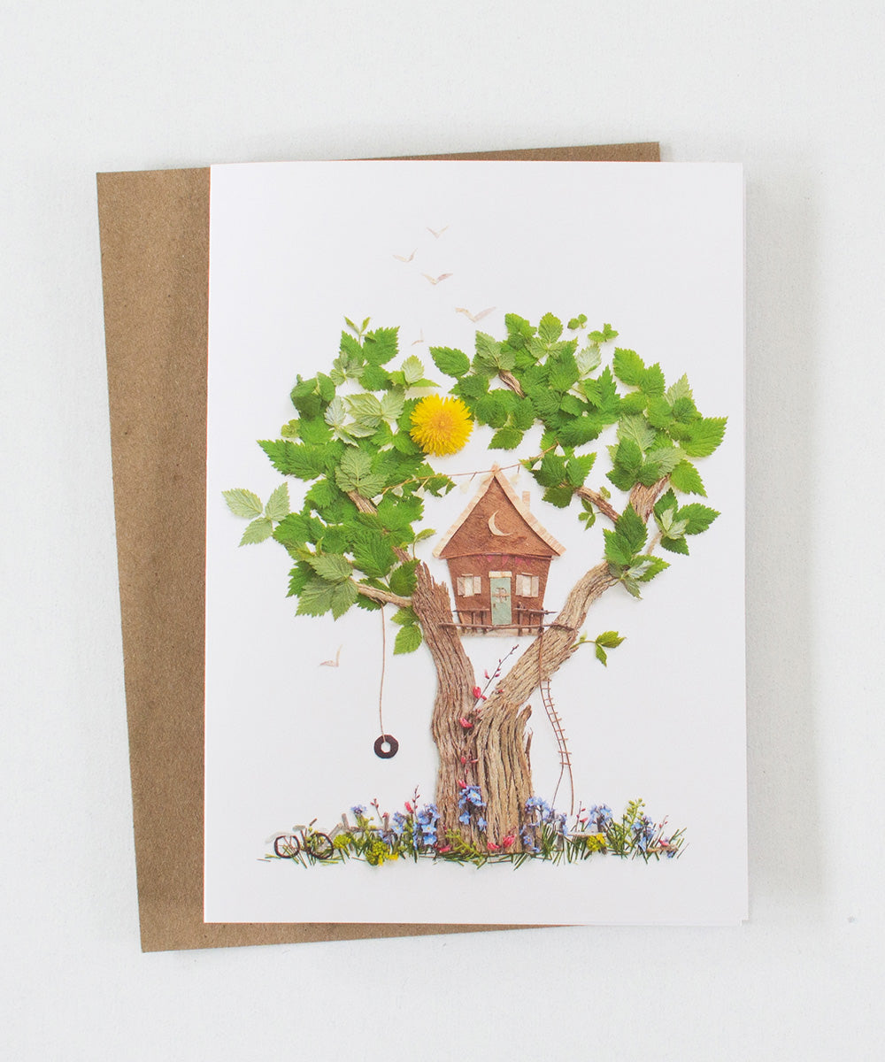 """Tree House"" Greeting Card - Sister Golden"