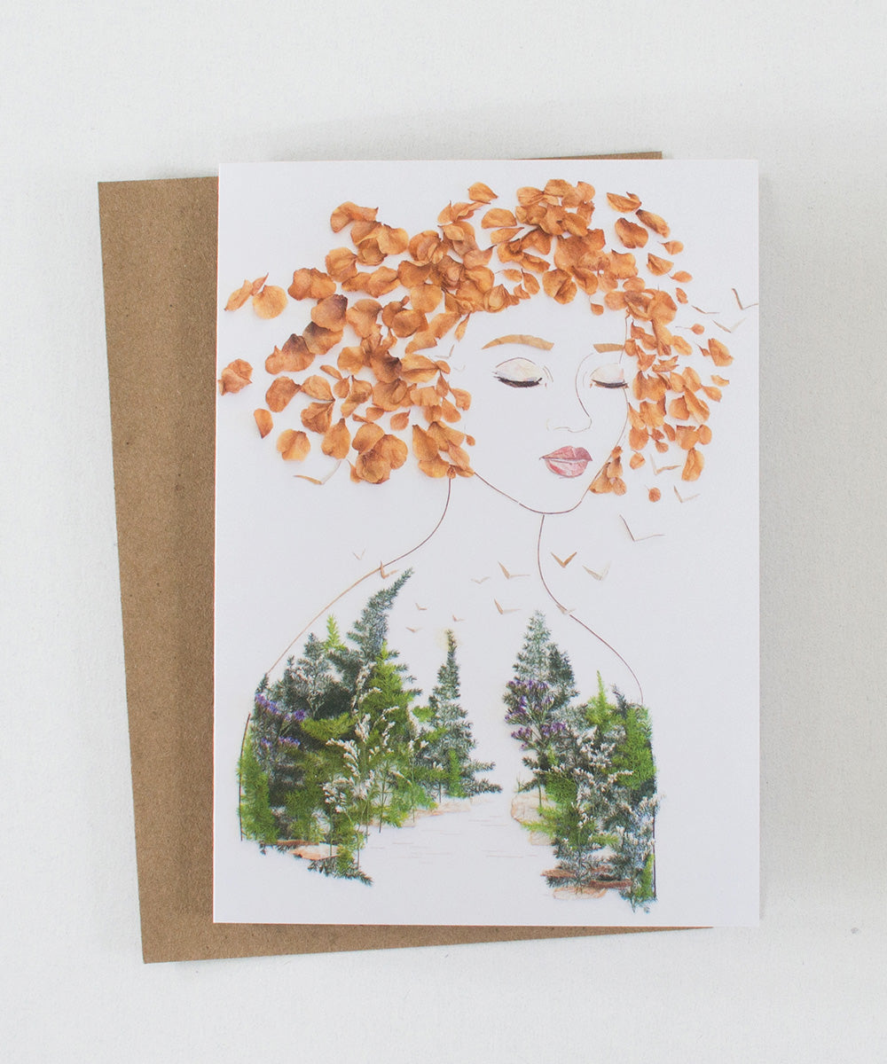 """Be Wild"" Greeting Card - Sister Golden"
