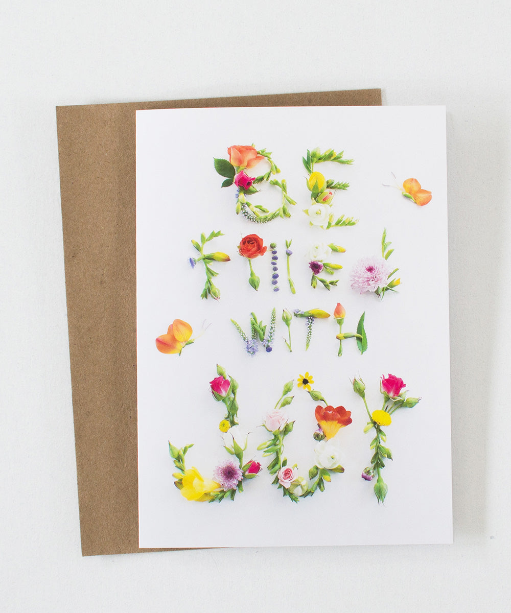 """Be Filled with Joy"" Greeting Card - Sister Golden"