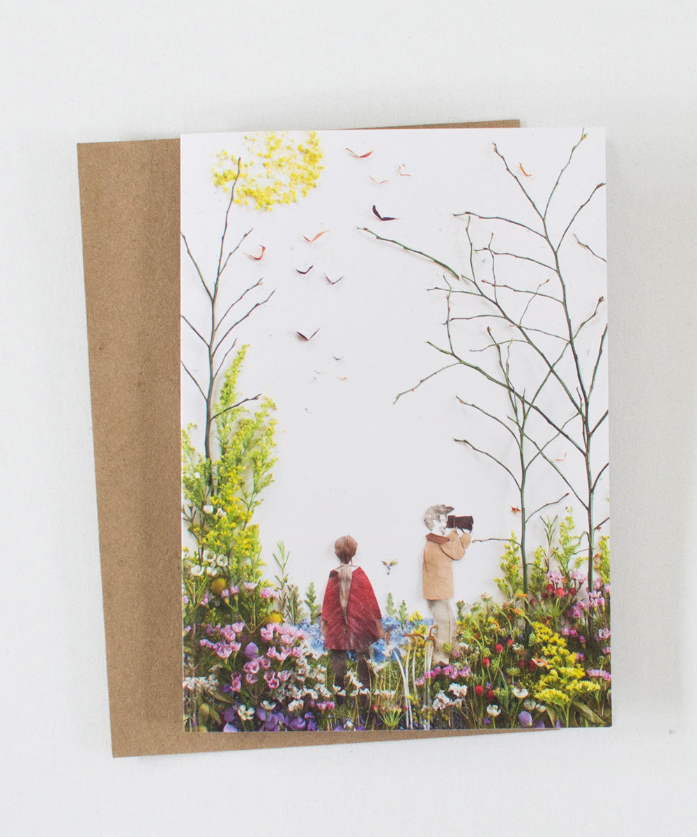 """Secret Garden"" Greeting Card - Sister Golden"
