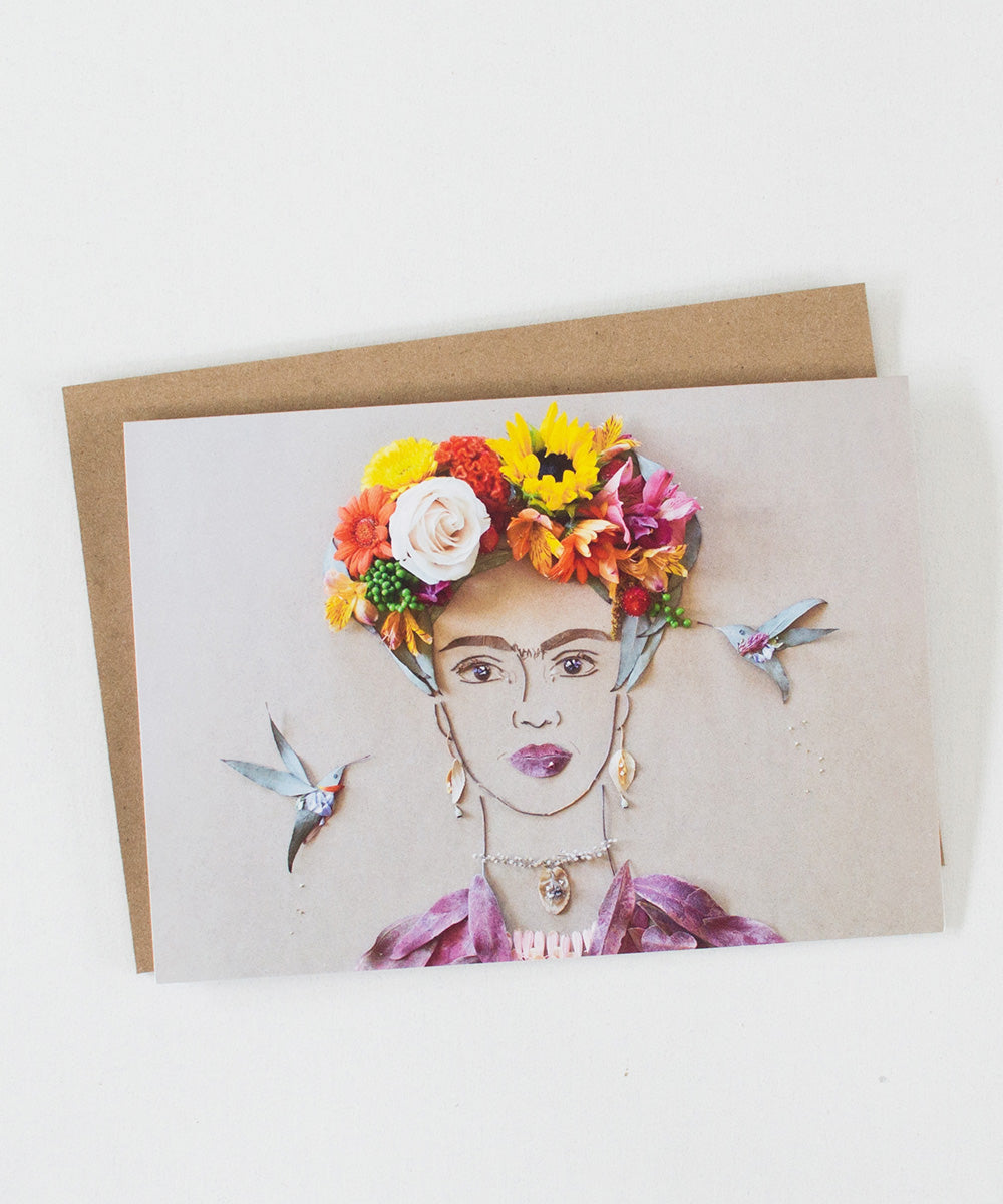 """Frida in the Garden"" Greeting Card - Sister Golden"