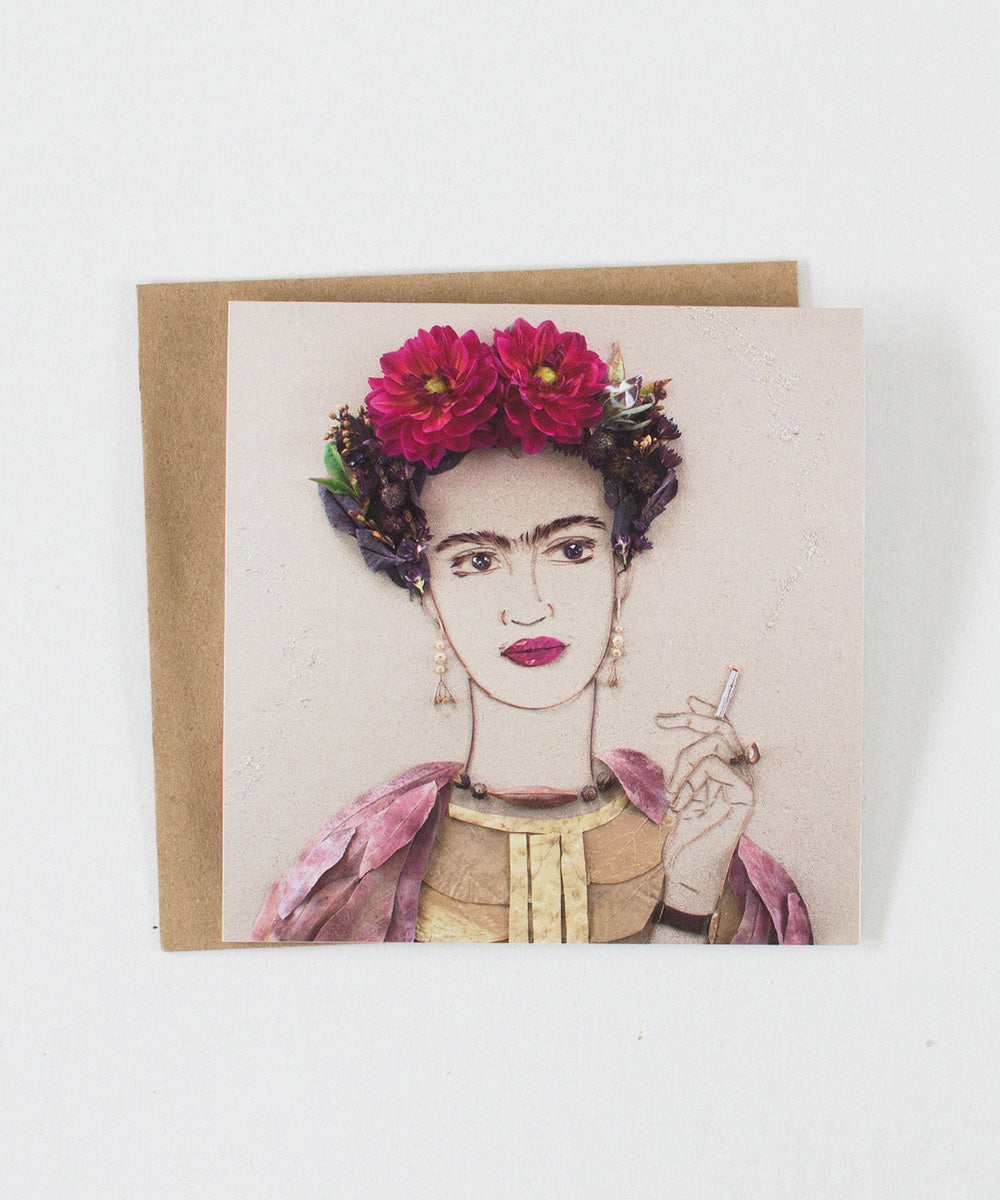 """Fierce Frida"" Greeting Card"