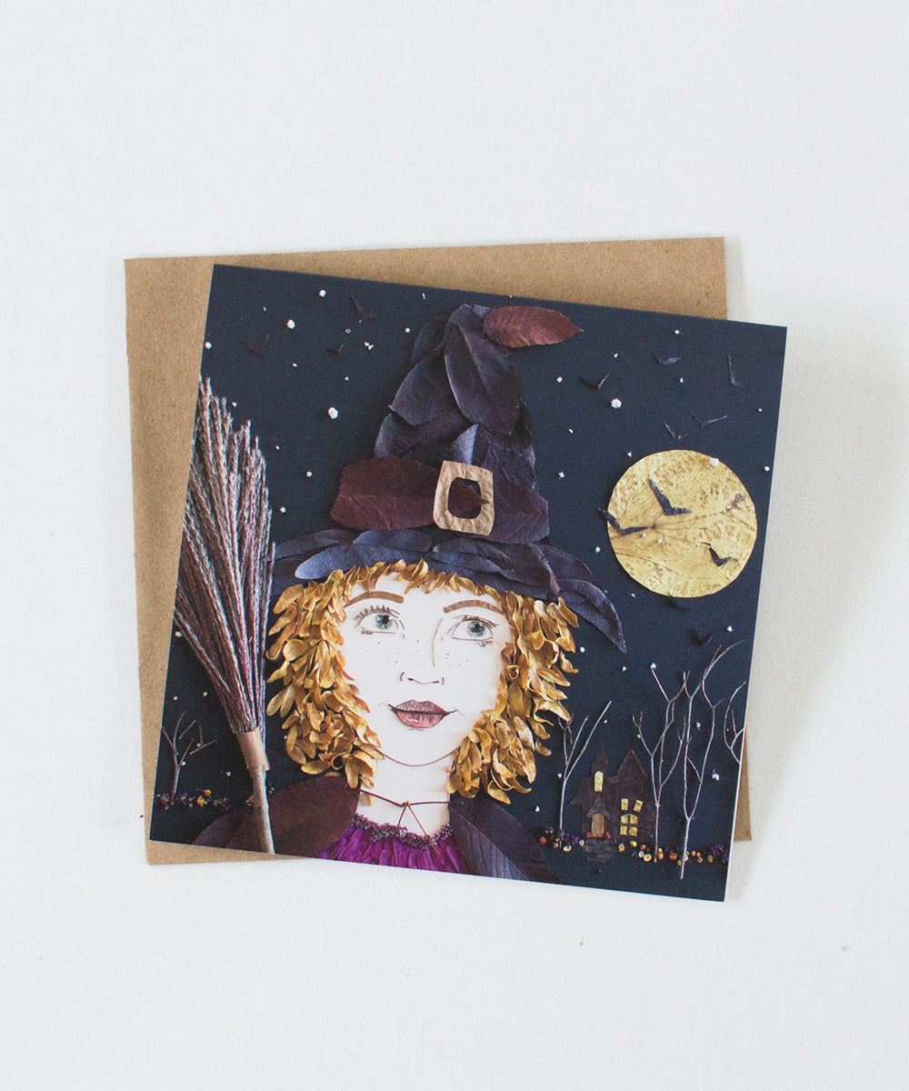 """Witch Hazel"" Greeting Card - Sister Golden"