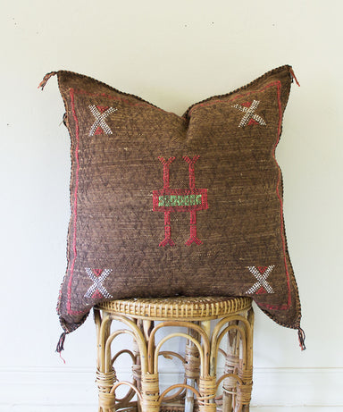 "Chocolate ""Cactus Silk"" Pillow - Sister Golden"
