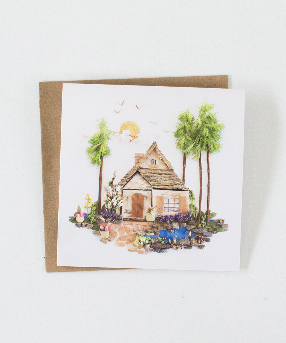 """Cottage Row"" Greeting Card"