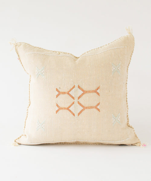 "Shell ""Cactus Silk"" Pillow"