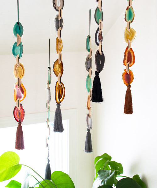 Mocha Agate Wall Hanging - Sister Golden