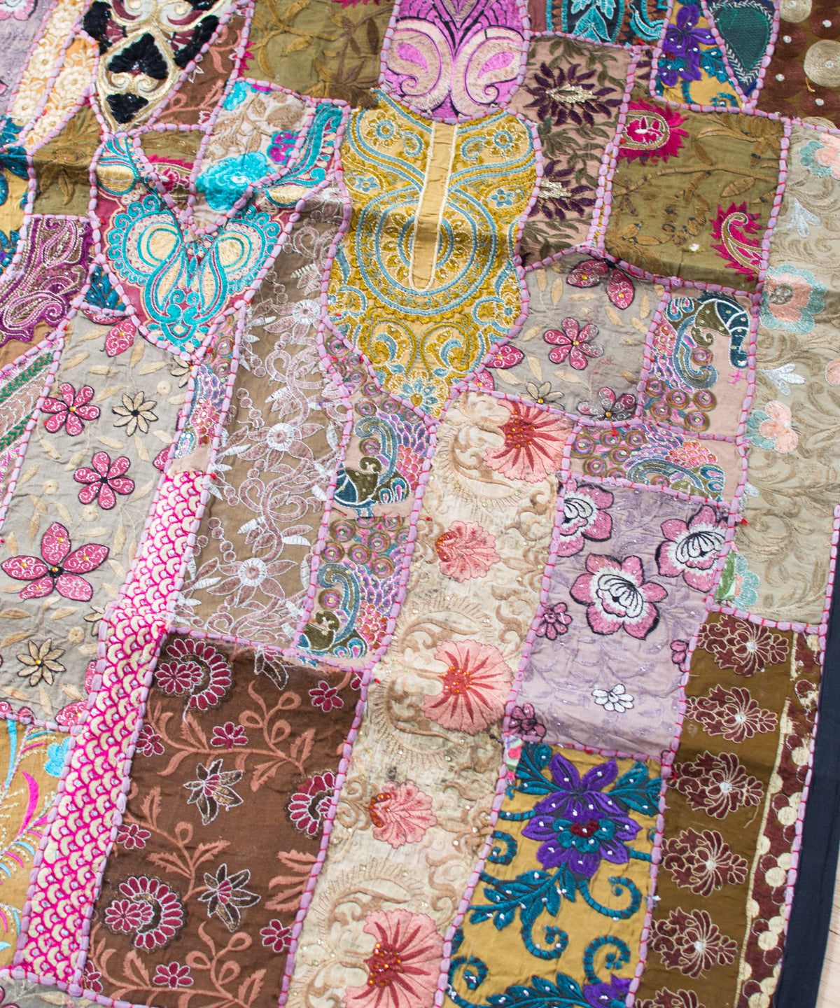 Embroidered Patchwork Tapestry XXVI